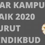 Universitas Terbaik di Indonesia 2020 menurut Kemendikbud
